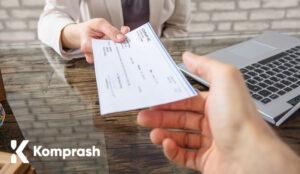 Cómo comprar pagando por cheque